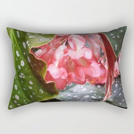 Spotted Begonias Rectangular Pillow