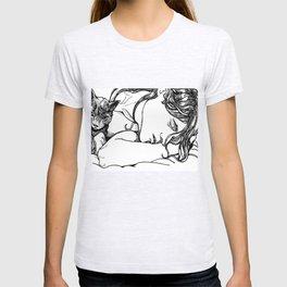 Cat Nap - Loki Black and White Series T-shirt