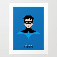 nightwing Art Prints featuring Nightwing by NBdesign