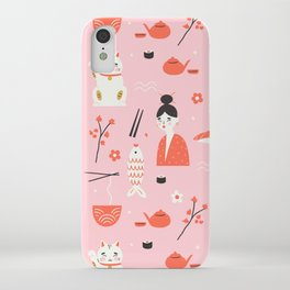 Dreaming of Japan Pattern iPhone Case
