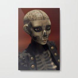 Lady Death Metal Print
