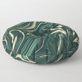 Emerald Green Black Gold Marble #1 #decor #art #society6 Floor Pillow