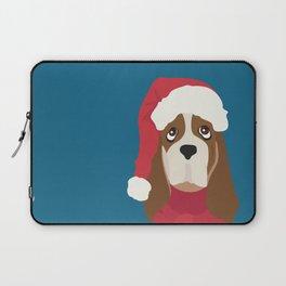 Basset Hound Christmas Dog Laptop Sleeve