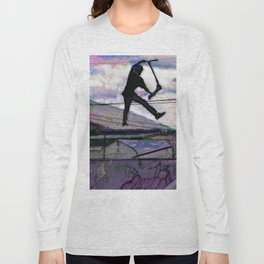 Deck Grab Champion - Stunt Scooter Art Long Sleeve T-shirt