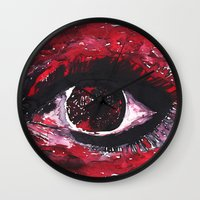 chaos Wall Clocks featuring chaos by echoes