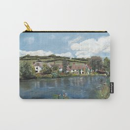 English Cottages by a River. Carry-All Pouch