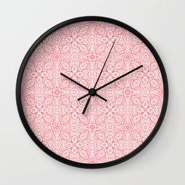 Coral Mosaic summer Wall Clock