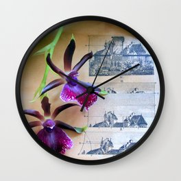 How Now Brown Flow-er Wall Clock