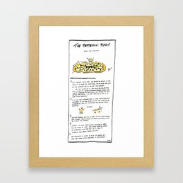 Pepperoni Pizza: Rules and Conditions Framed Art Print