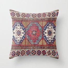 Shahsavan Azerbaijan Antique Tribal Persian Rug Throw Pillow
