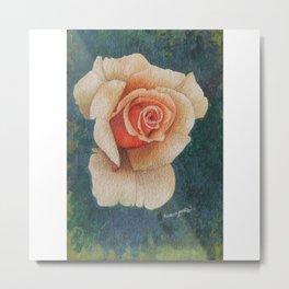 White Rose - in watercolor Metal Print