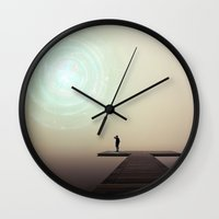 portal Wall Clocks featuring Portal by Jozi