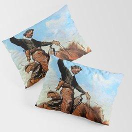 """Frederic Remington Western Art """"The Buck Jumper"""" Pillow Sham"""