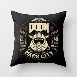 Doom - Fight Hell Throw Pillow