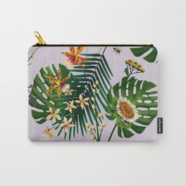 Floral Bees Light Carry-All Pouch
