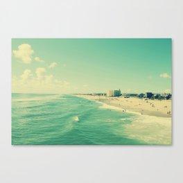 Let's go to the beach, beach Canvas Print