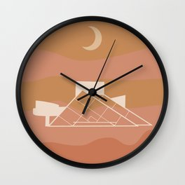 Cleveland Landmark Print Wall Clock