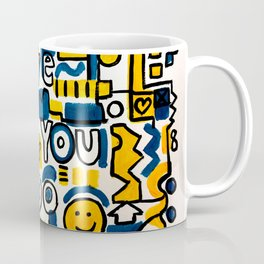 Fun LOVE and colorful art BED COMFORTER or Shower Curtain Coffee Mug