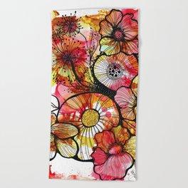 Original Artwork: Rusty Garden Beach Towel