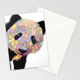 Patterned Panda Bear Stationery Cards