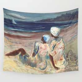 On the Beach by Victor Laredo Wall Tapestry