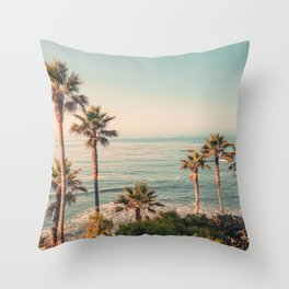 Under the palms Throw Pillow
