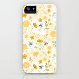 Honey Bees and Buttercups iPhone Case