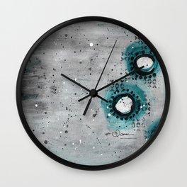 Charcoal Circles Right Wall Clock