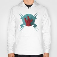 heavy metal Hoodies featuring Heavy Metal Oven Mitt by John Magnet Bell