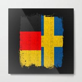 German Swedish Flag Metal Print