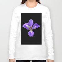 iris Long Sleeve T-shirts featuring Iris by Trevor Jolley