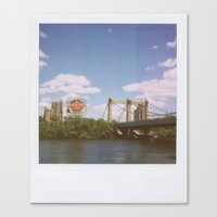 minneapolis Canvas Prints featuring Minneapolis by Eric Wilcox / let it unwind