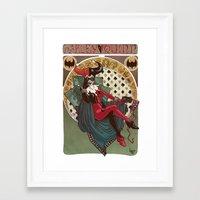 harley quinn Framed Art Prints featuring Harley Quinn by LaurenceBaldetti