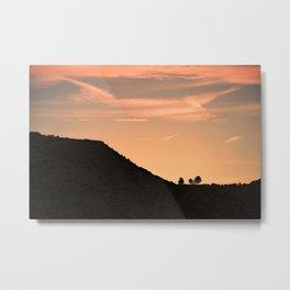 California Silhouette Metal Print