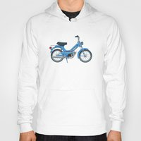 motorbike Hoodies featuring Motorbike Automatic 3 MS - Tomos by Jus Project