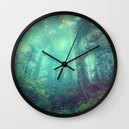 Enchanted Forest II Wall Clock