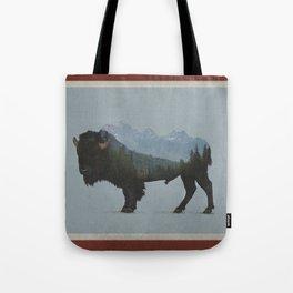 Wyoming Bison Flag Tote Bag