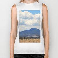 oasis Biker Tanks featuring Cerro Pedernal OKeeffe Oasis by AllisonSwindell