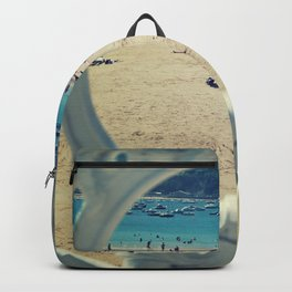 La Concha . Donosti beach Backpack