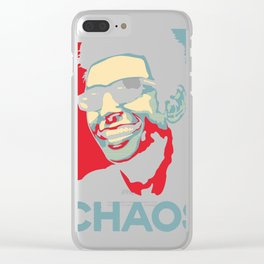 Ian Malcolm 'Chaos' T-Shirt Clear iPhone Case