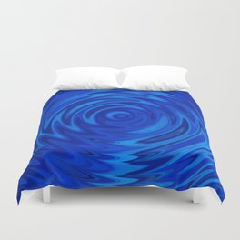 Water Moon Cobalt Swirl Duvet Cover