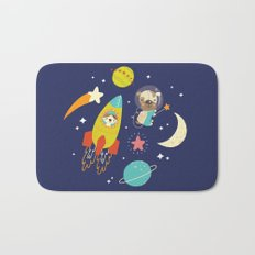 Space Critters Bath Mat