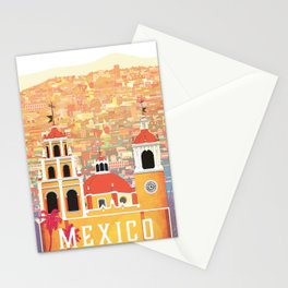 Mexico Guanajuato Travel Poster Stationery Cards