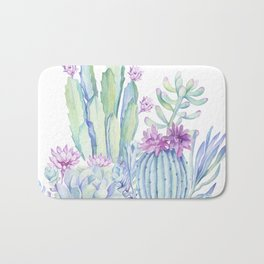 Mixed Cacti White #society6 #buyart Bath Mat
