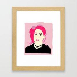 Knock Knock! Dahyun Pink Framed Art Print