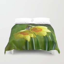 Two Daffodils Duvet Cover