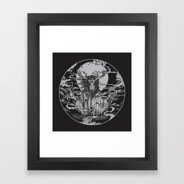 DREAMTIME - BLACK Framed Art Print
