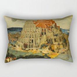 "Pieter Brueghel II (The Younger) ""The Tower of Babel"" Rectangular Pillow"