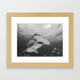 Greatness in Black & White Framed Art Print