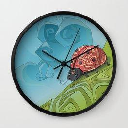 Joyful lady bug Wall Clock